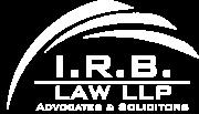 IRB Law White Logo