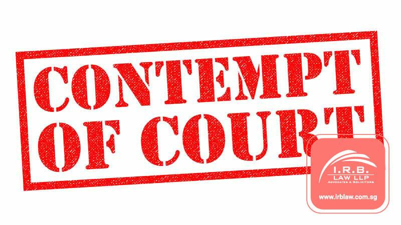 Contempt of Court in Singapore